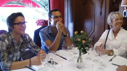 Déjeuner avec Vincent BED, Bango et Mercotte