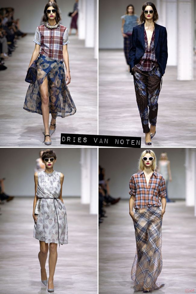 Dries Van Noten Fashio  Week Paris Pintemps Eté 2013