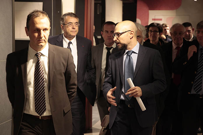 Paolo Onfiani, Francesco Catalano et Jean-Jack Queyranne