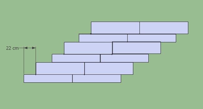 Calepinage 15x90 et 22.5x90 cm