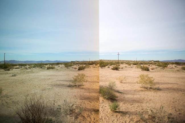 reflets désert miroirs
