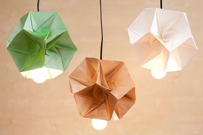 Lampe Origami DIY Brit Co