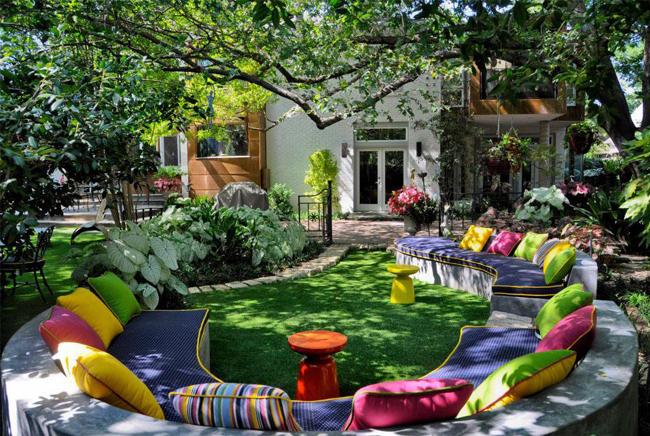 Aménagement terrasse couleur