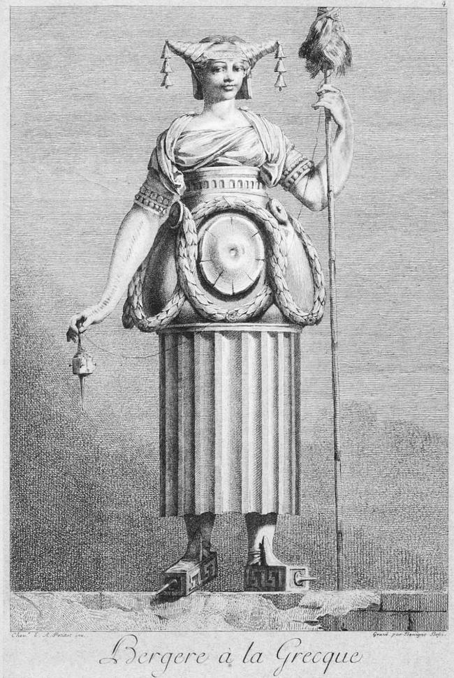 La bergère - mascarade à la grecque - Petitot