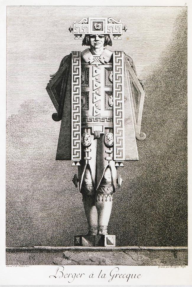 Le berger - mascarade à la grecque - Petitot