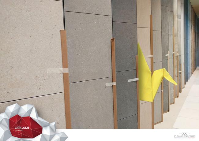 Origami stand du Cersaie Bologne 2017