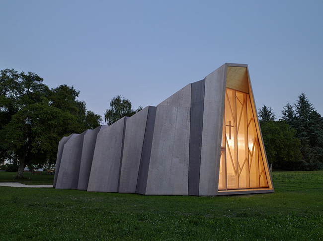 Architecture Origami - Chapelle St Loup - – Local Architecture, Pomparmes