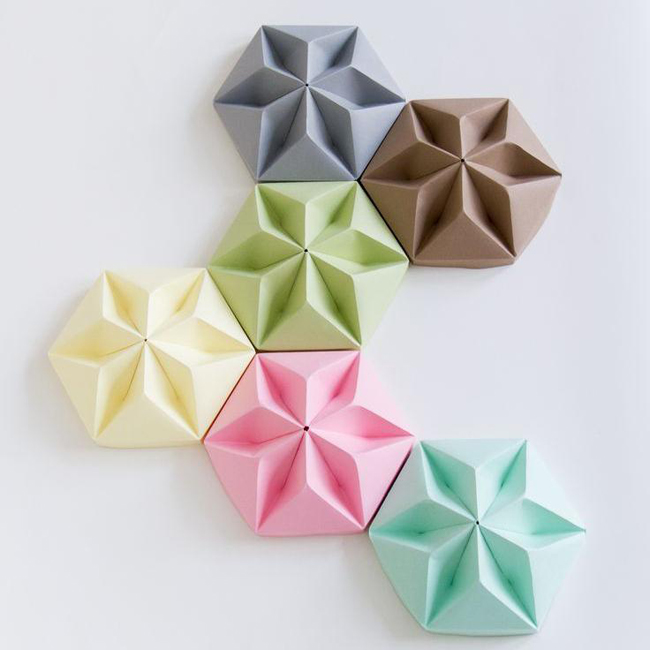 Origami Decoration plafond rosace