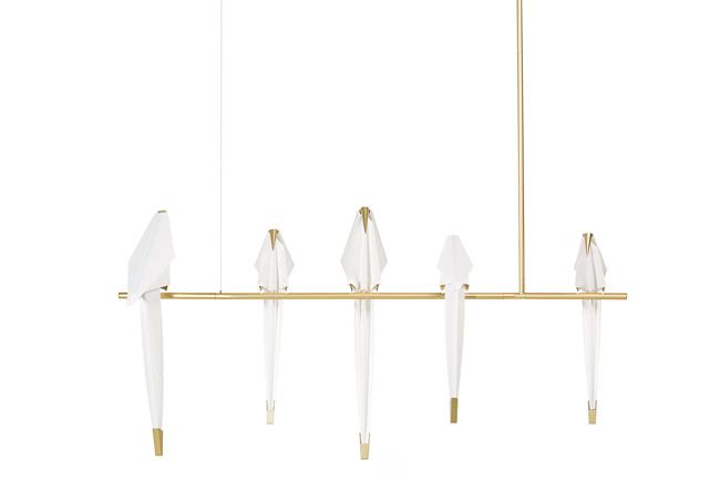 Origami Decoration Lampe Perch