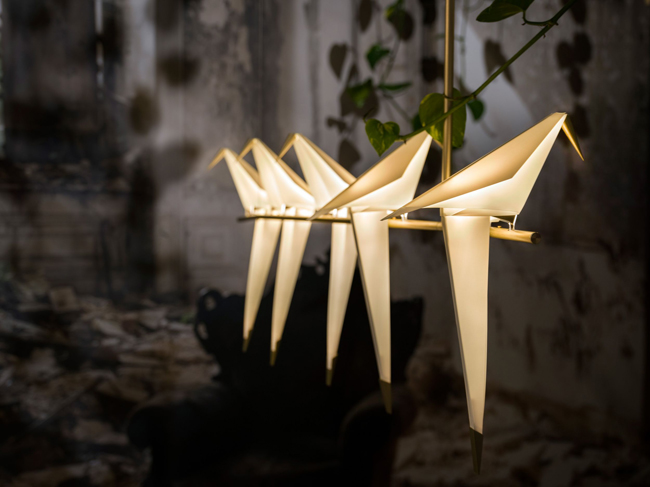 Origami Decoration Lampe Perch