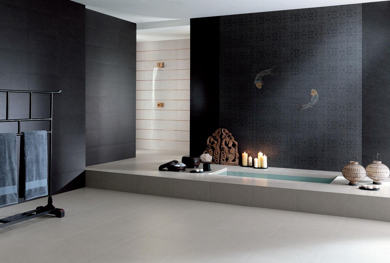 Papier Salle De Bain carrelage pour salle de bains imitation papier peint