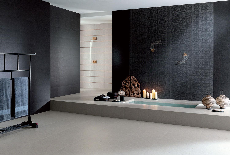 Carrelage gris clair pour salle de bains carreaux sdb gris clairs - Carrelage antiderapant salle de bain ...