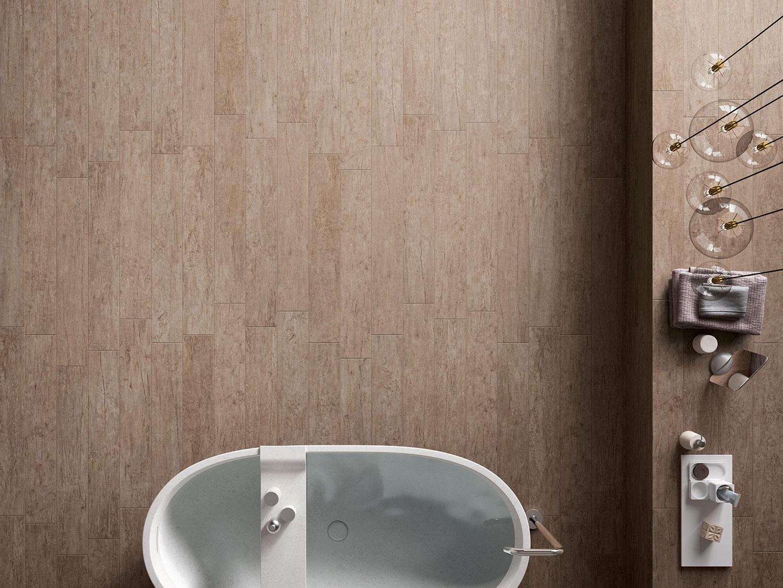 Carrelage marron pour salle de bains carreaux sdb de - Prise pour salle de bain couleur marron ...