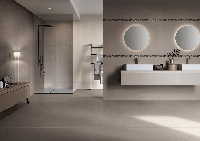 Carrelage pour Salle de bains imitation Résine  Novoceram