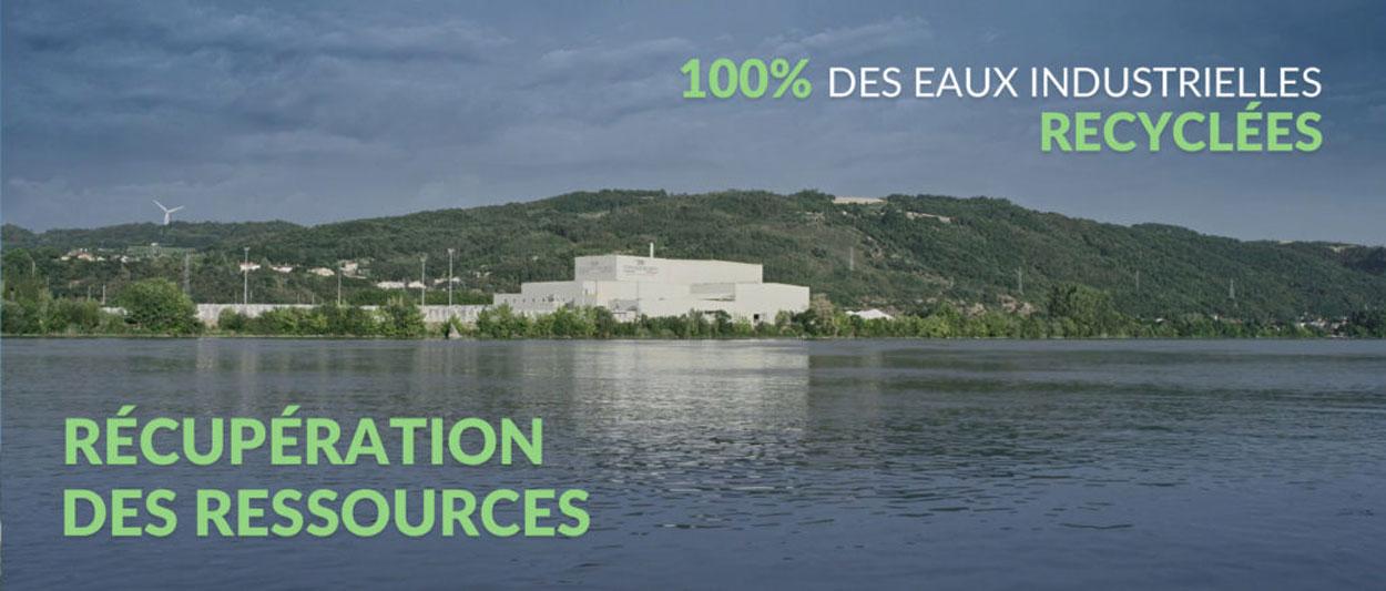 100% des eaux industrielles recyclées