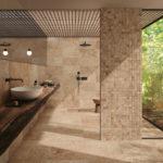 Tiber Natural 30x60 mosaique 5x5 - salle de bain