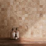 Tiber Natural mosaïque 5x5 - salle de bain