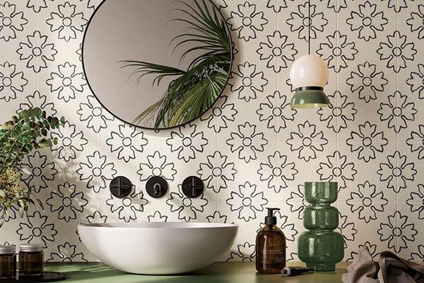 carrelage salle de bain aspect carreau ciment