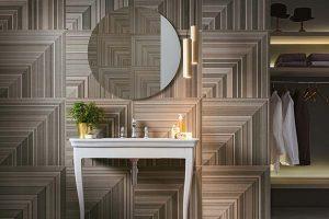 grès papier peint géometrique