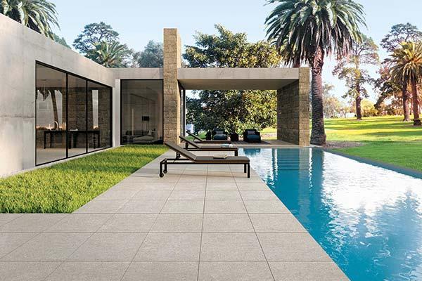 sol extérieur imitation ciment