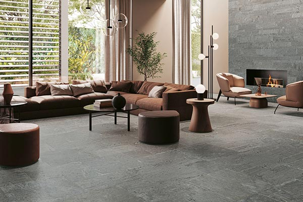 sol grès cérame effet pierre