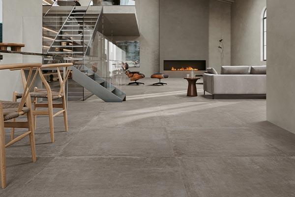 sol interieur effet beton