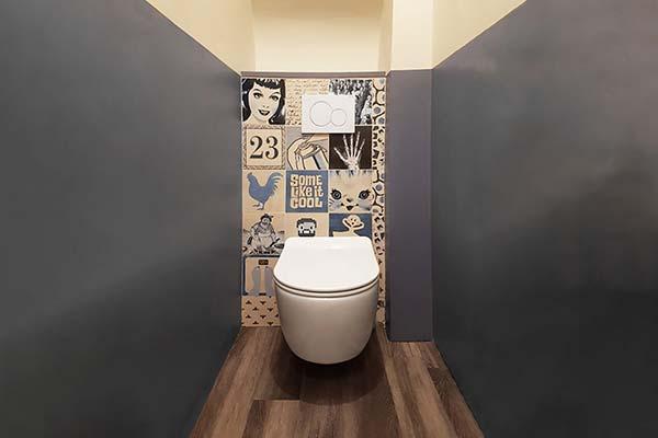 wc papier peint céramique