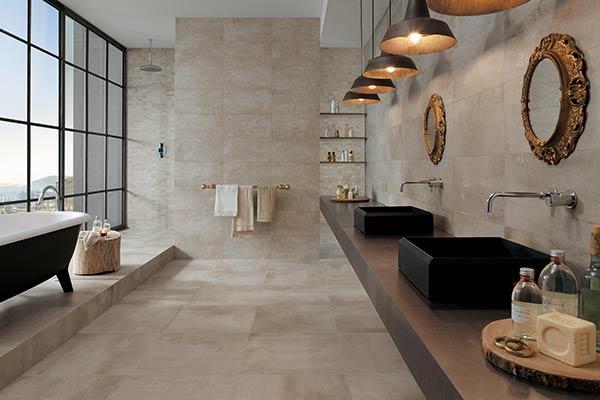 carrelage couleur beige salle de bain