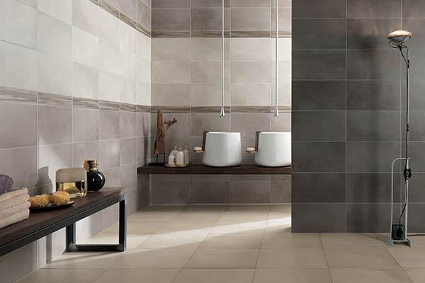 carrelage style terre cuite salle de bain