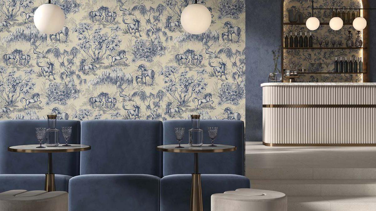 Licorne blue 40x80